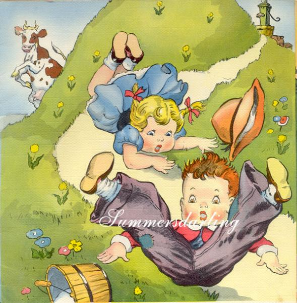 Quilt art fabric block jack and jill story book nursery for Jack and jill stories