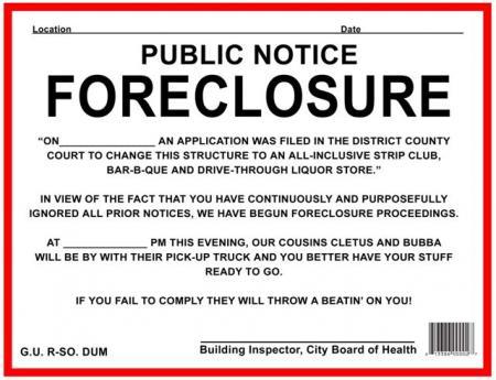 Details about FORECLOSURE, HOUSE ARREST, QUARANTINE 10PK PRANK SIGNS