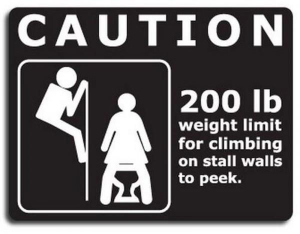 "Bathroom Sign Prank prank bathroom toilet sign "" 200 pound limit "" funny gag potty"