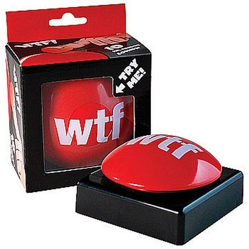 Wtf What The F K Red Slam Button Joke Gag Gift Funny