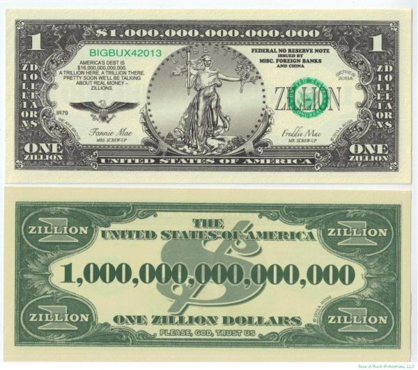 How much does a trillion dollars look like 10