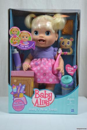 New Baby Alive Brushy Brushy Baby Doll - Blonde ...  |Baby Alive New Teeth