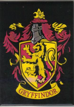 harry potter house of gryffindor logo crest refrigerator