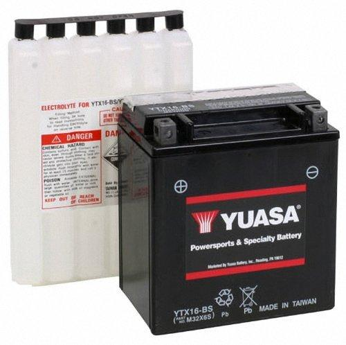 new genuine yuasa ytx16 bs dry charged motorcycle battery 12v 14ah 230cca agm ebay. Black Bedroom Furniture Sets. Home Design Ideas