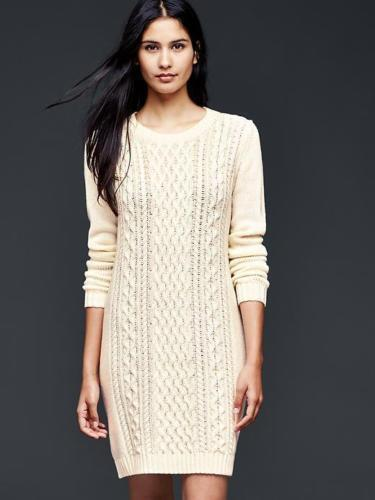 Gap Snow Cap Cable Knit Sweater Dress Xl Ebay