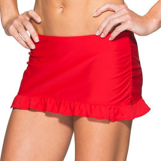Red Swim Skirt