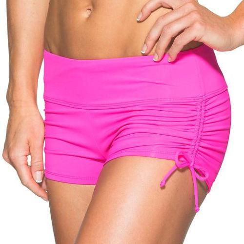 Athleta Nwt Brilliant Magenta Scrunch Swimsuit Short Mid