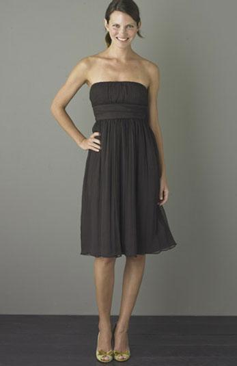 J Crew 2 Nwt Black Emily Silk Chiffon Strapless Short Dress XS 2 ...