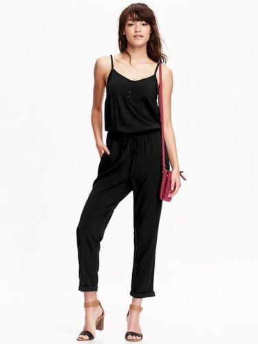 3940a3e9cfd Old Navy Black Cami Romper Jumpsuit 4 6 S 179802800030