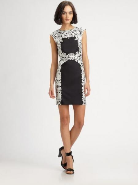 After 6 lace dress sleeveless