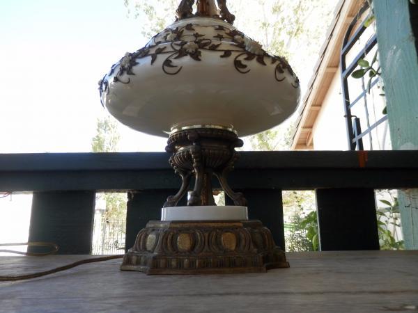Hollywood Regency Carl Falkenstein Lamp Gilt Bronze