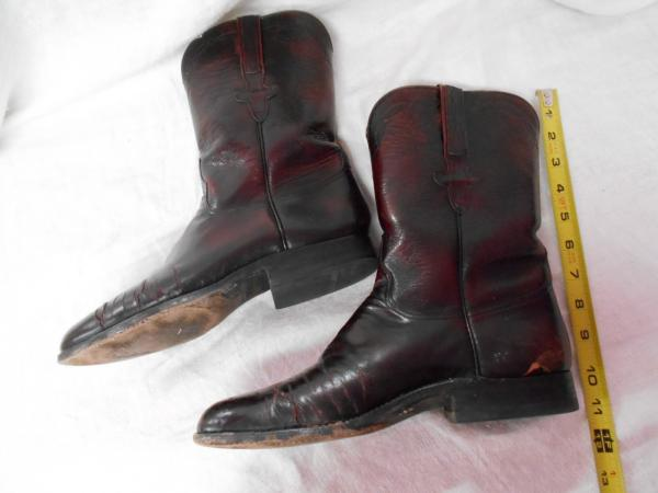 lucchese mahogany brown leather mens cowboy boots sz 8 d