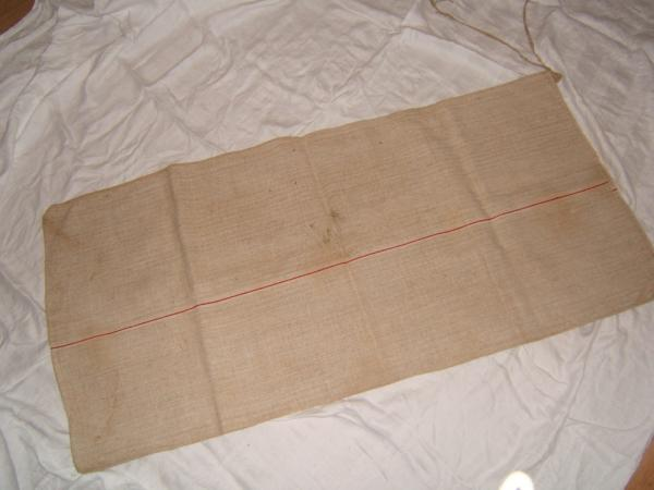 23x51 vintage antique heavy hemp linen european redwork grain bag feed sack