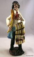 Superb vintage Italian porcelain Art hand made Bred Maker figure 10.5in tall