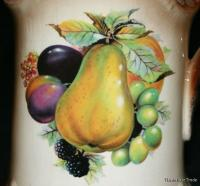1910 vintage British Staffordshire Ironstone large gilded jug