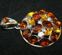 Vintage Costume Jewelry pendant rhinestones sku4z