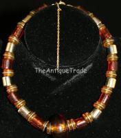 Vintage Jewelry amber imitation Necklace chocker sku2z