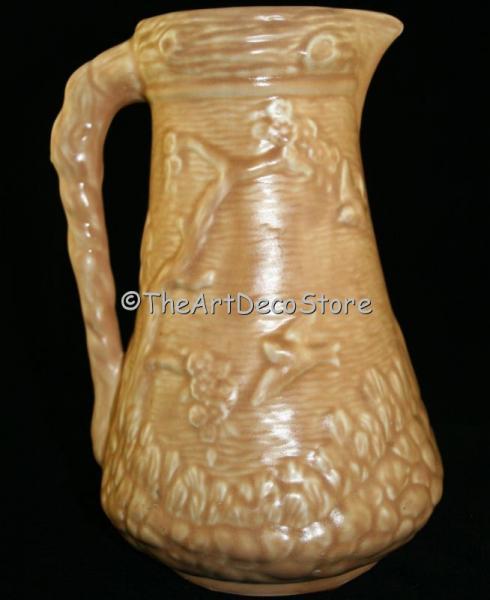 Antique British 30s ceramic Art Deco large jug
