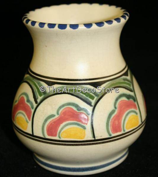 Antique 30s Art Deco British Devon Pottery Honiton Vase