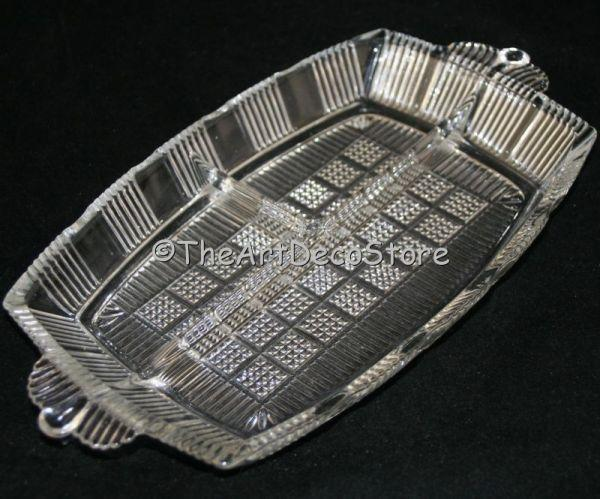 Antique Art Deco 30s France style glass snack dish