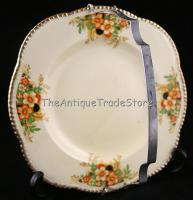 Antique 30s Woods Ivory ware Art Deco plate w handle