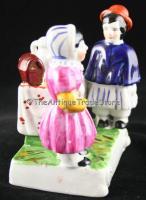 Antique Victorian 1885 British porcelain figurine group