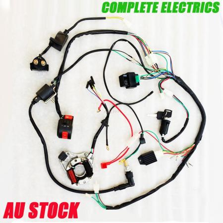 full electrics wiring harness coil cdi cc cc atv quad bike click here to enlarge