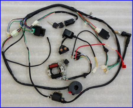 49cc mini harley chopper scooter wiring diagram 49cc wiring diagram and circuit schematic