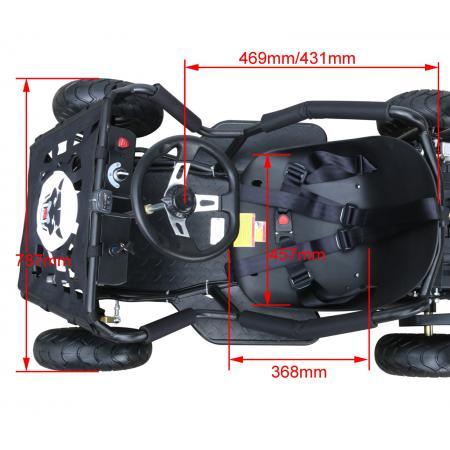 Xmas gift 1800 watt 48 volt electric 3 speed off road go for 12 volt motor go kart