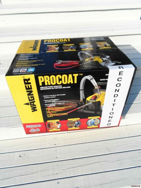 procoat pro coat paint sprayer plus extra tip for staining ebay. Black Bedroom Furniture Sets. Home Design Ideas