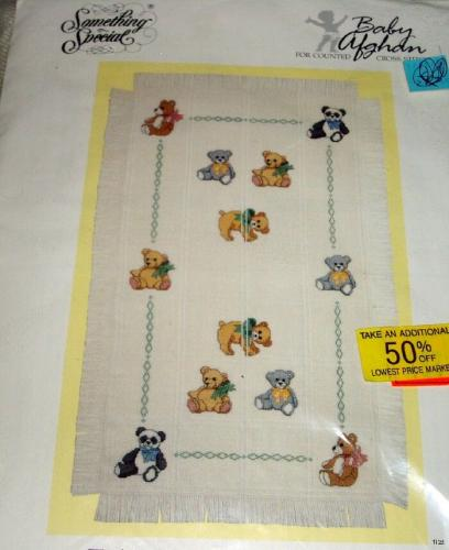 Teddy Bears Baby Afghan Something Special Counted Cross Stitch