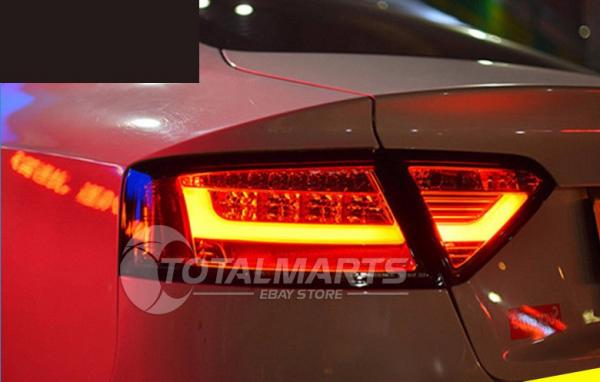 Rear Lights For 2008 2016 Audi A5 Dark Red Led Assembly