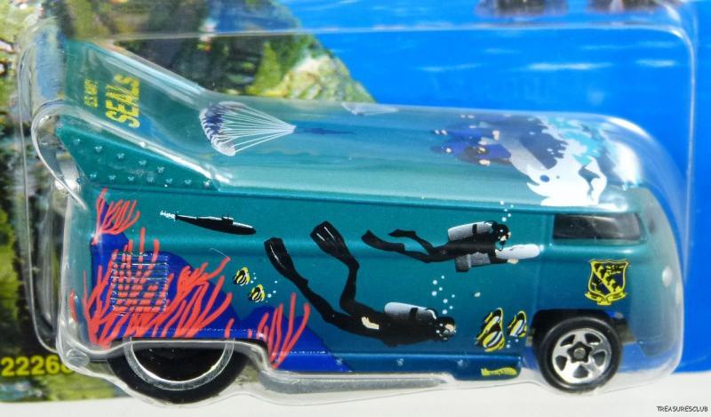 Hot Wheels Le USA Navy Seals VW Bus 22268 NRFP Mint Cond 1998 Aqua