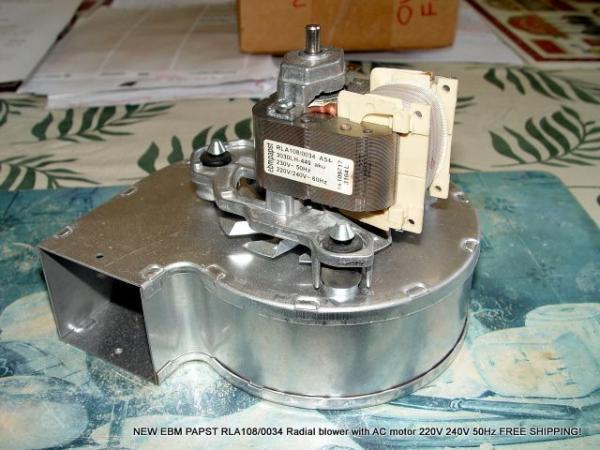 New ebm papst rla108 0034 radial blower fan motor 220v for Ebm papst fan motor