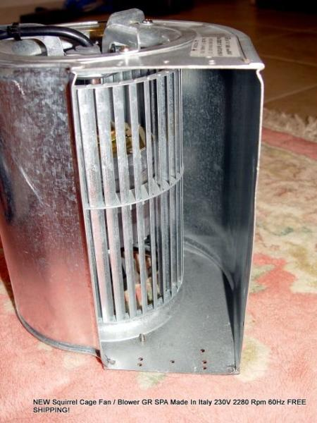 Squirrel Cage Fan : New squirrel cage fan blower gr spa italy v rpm