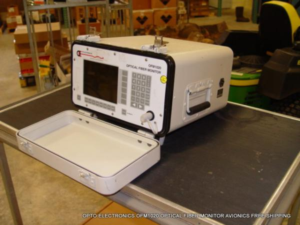 OPTO ELECTRONICS OFM1020 OPTICAL FIBER MONITOR AVIONICS FREE
