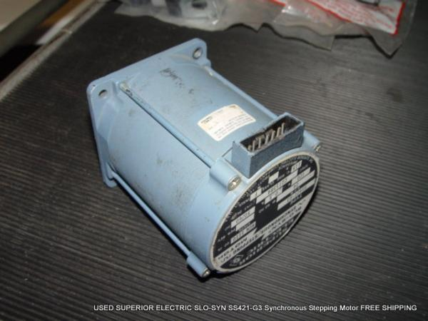 USED SUPERIOR ELECTRIC SLO-SYN SS421-G3 Synchronous Stepping Motor on