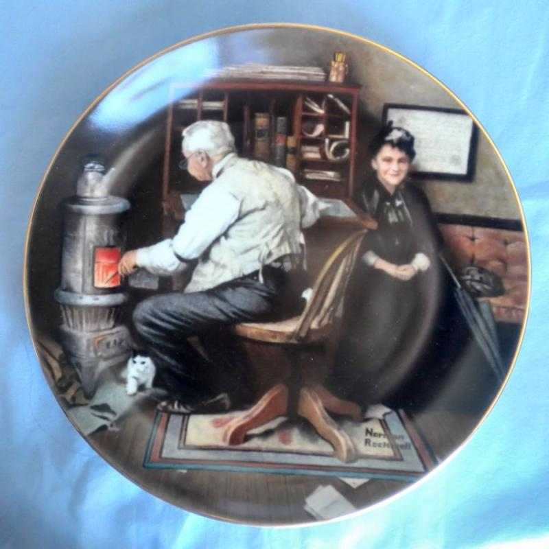 Normal Rockwells Fine China Plate Keeping Company Le