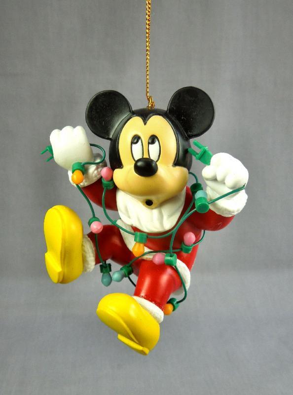 Disney Micky Mouse Santa Tangled in Christmas Lights ...