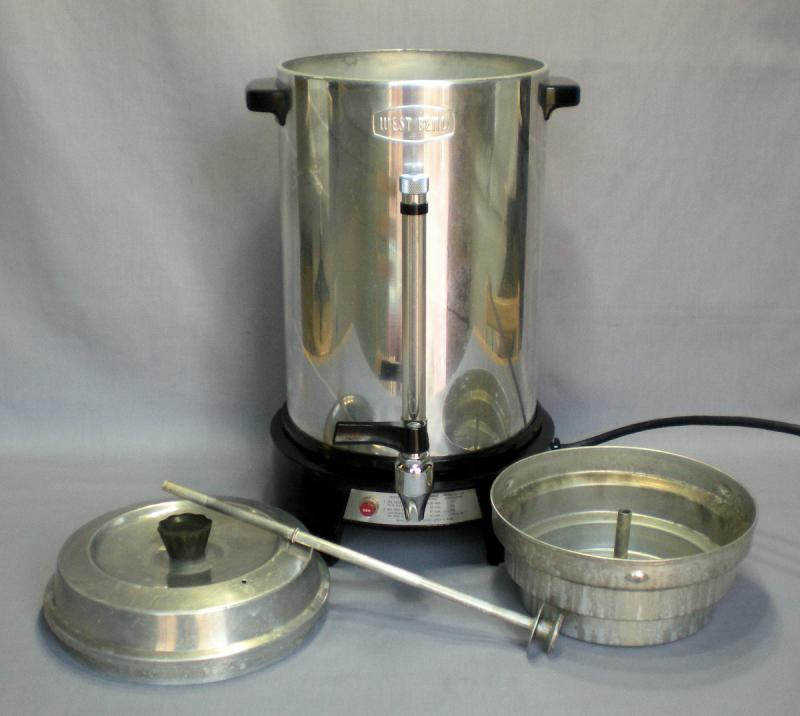 West Bend Coffee Maker Percolator : West Bend 50 Cup Commercial Coffee Percolator Maker Urn 3500E