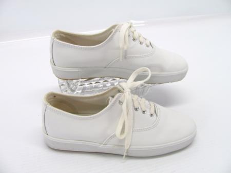 hanes way soft fit womens white leather lace up