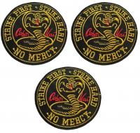 "Karate Kid Cobra Kai Uniform Cosplay 3 3//4/"" Tall Embroidered SET of 3 PATCHES"