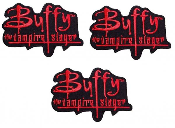 Buffy The Vampire Slayer Red and Black Logo Iron On Patch