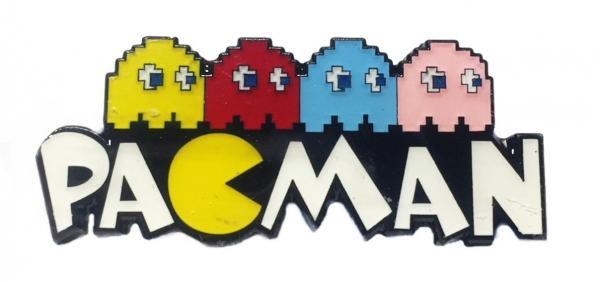 Pacman Logo With 4 Ghosts Enamel Filled Metal Pin