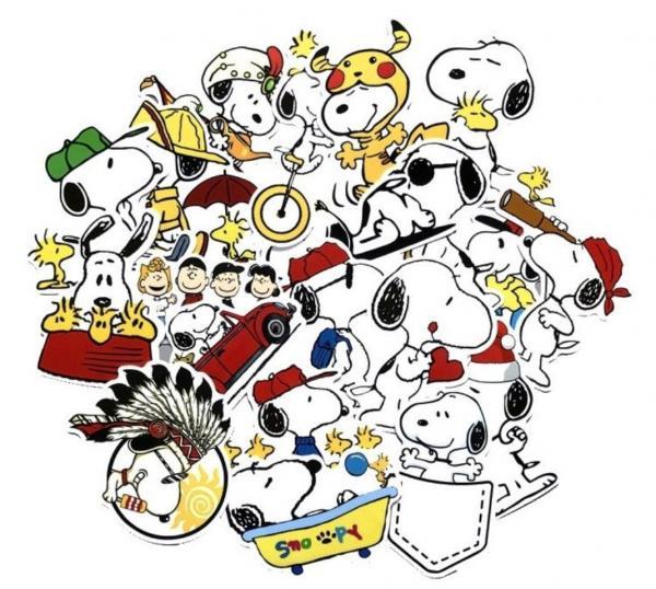 Vati Bl/ätter Removable Kreative Snoopy und Woodstock Grams Aufkleber Aufkleber Skin Art Schwarz f/ür Apple MacBook Pro Air Mac 13 15 Zoll//Unibody 13 15 Zoll-Laptop