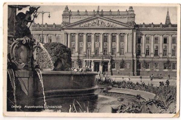 Germany Old Postcard Leipzig Augustusplatz Universitat Ebay