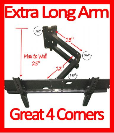 Long Arm Articulating Lcd Plasma Led Tv Wall Mount 42 46