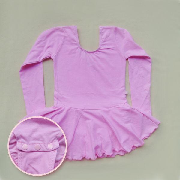 Girls Gymnastics Dance Dress Skate Skirt 4-10Y Long Sleeves Ballet