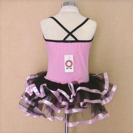 Pink Black Dance Leotard Ballet Tutu Girls Dress 1 2yrs