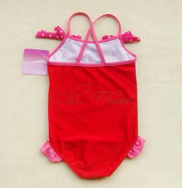 Girls Kids Minnie Mouse Swimsuit Swimming Swim Costume Swimwear Ages 1 6 Years